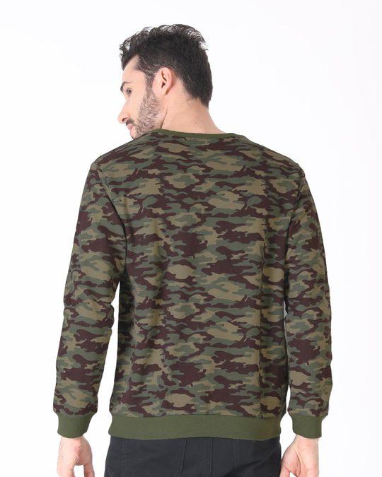 Shop Outdoor Green Camouflage Crew Neck Sweatshirt