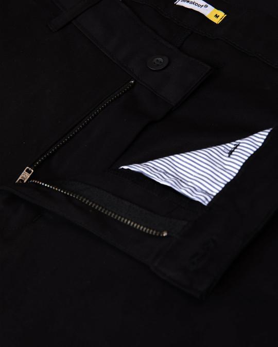 Shop Outer Black Slim Fit Cotton Chino Pants