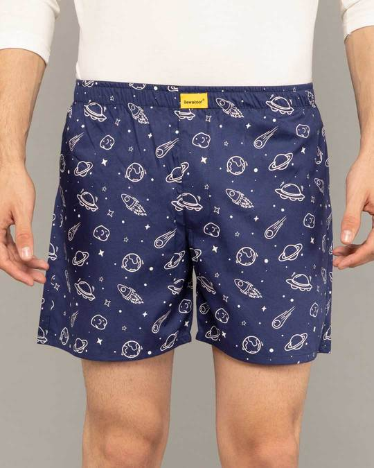 Shop Outer Space All Over Printed Boxer-Back