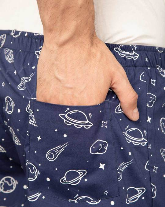 Shop Outer Space All Over Printed Boxer