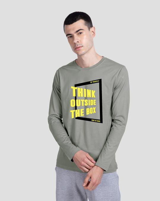 Shop Outside The Slant Box Full Sleeve T-Shirt-Front