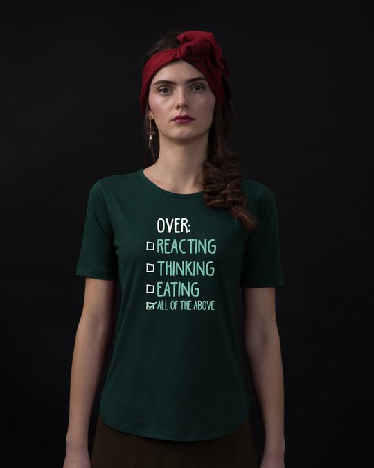 Shop Over Everything Basic Round Hem T-Shirt-Front