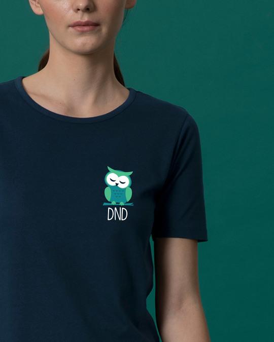 Shop Owl Dnd Basic Round Hem T-Shirt-Front
