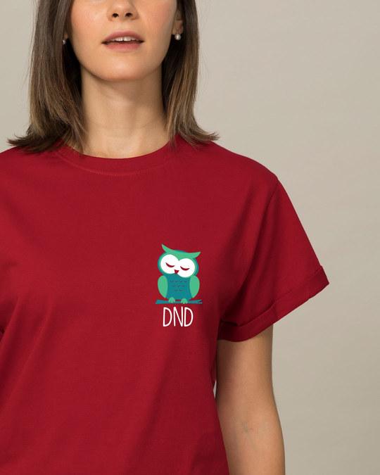 Shop Owl Dnd Boyfriend T-Shirt-Front
