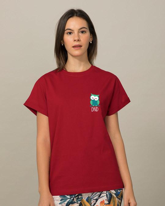 Shop Owl Dnd Boyfriend T-Shirt-Back