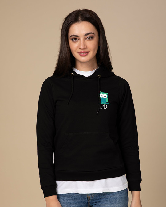 Shop Owl Dnd Fleece Hoodies-Back