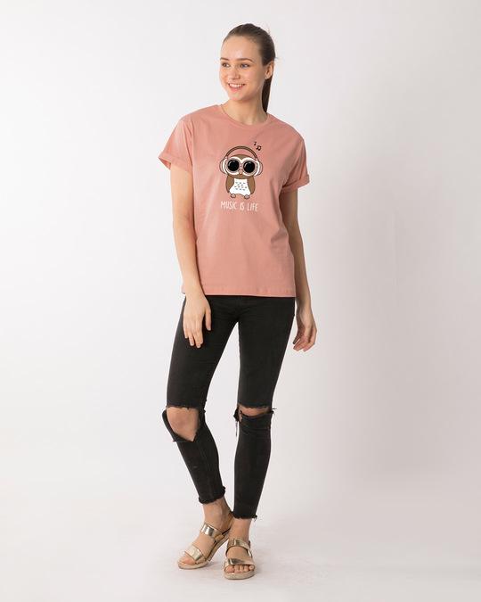 Shop Owl Headphones Boyfriend T-Shirt