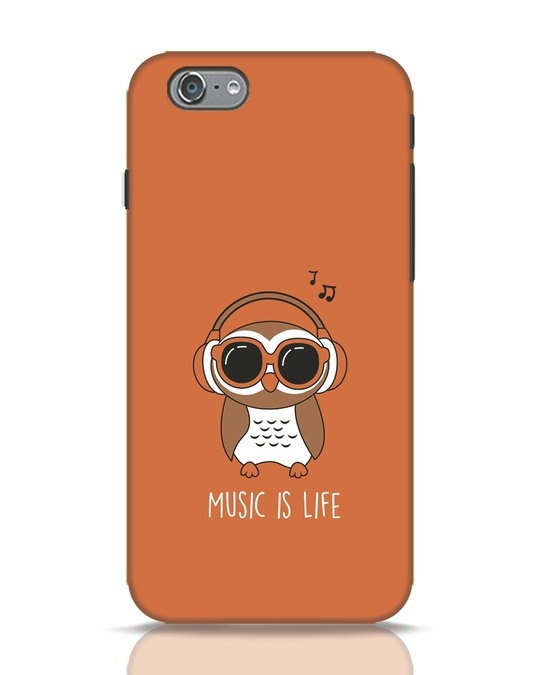 Shop Owl Headphones iPhone 6 Mobile Cover-Front