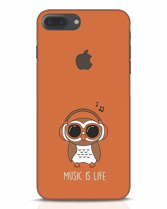 Shop Owl Headphones iPhone 7 Plus Logo Cut Mobile Cover-Front