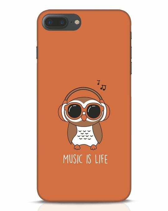 Shop Owl Headphones iPhone 7 Plus Mobile Cover-Front