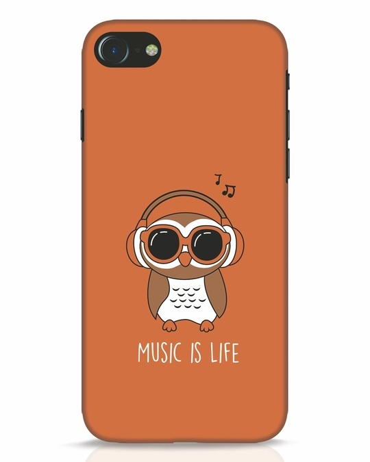 Shop Owl Headphones iPhone 8 Mobile Cover-Front