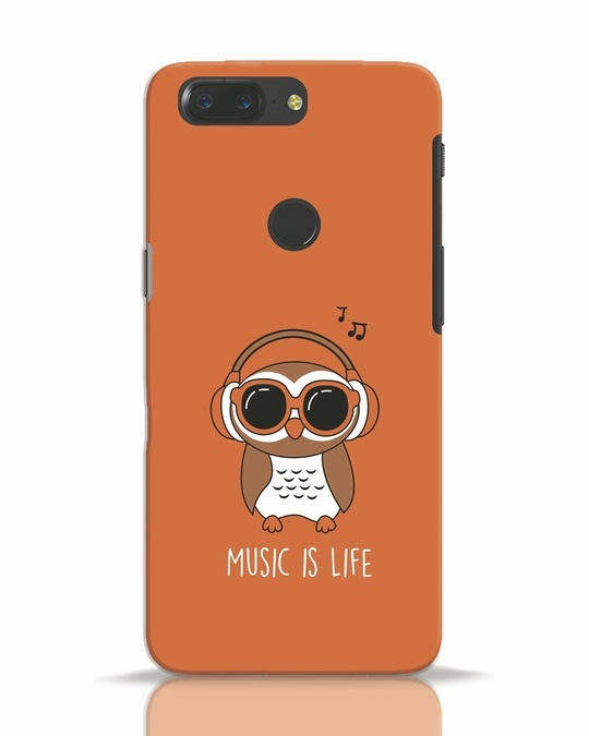 Shop Owl Headphones OnePlus 5T Mobile Cover-Front