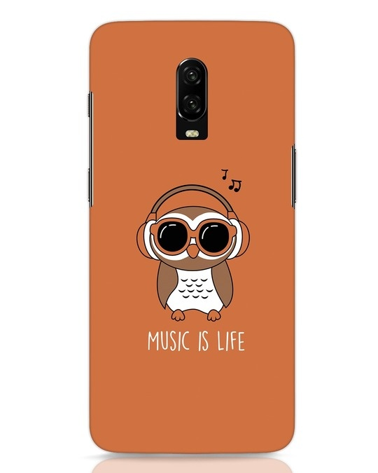 Shop Owl Headphones OnePlus 6T Mobile Cover-Front