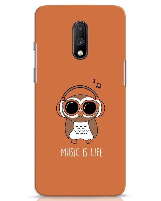 Shop Owl Headphones OnePlus 7 Mobile Cover-Front