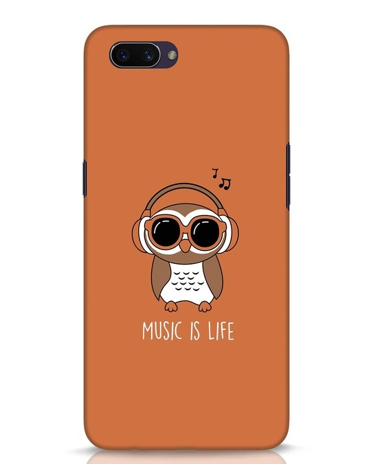 Shop Owl Headphones Oppo A3S Mobile Cover-Front