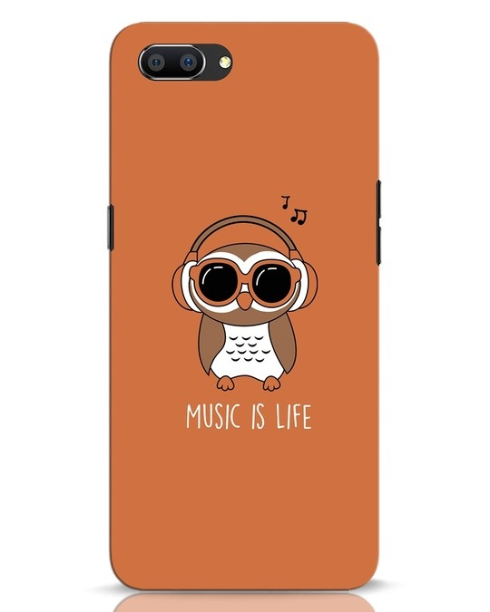 Shop Owl Headphones Realme C1 Mobile Cover-Front