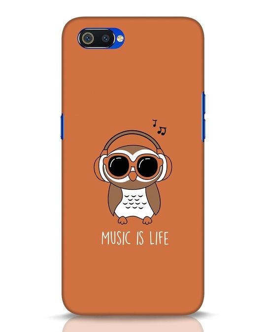 Shop Owl Headphones Realme C2 Mobile Cover-Front