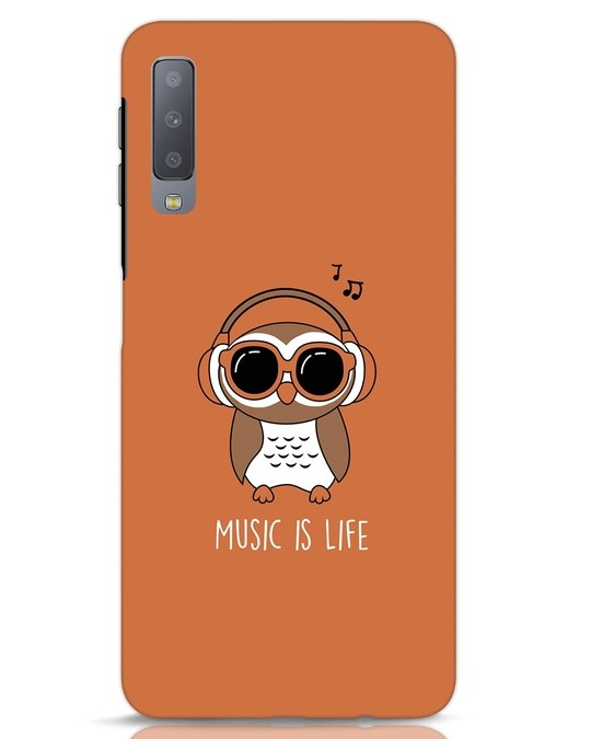 Shop Owl Headphones Samsung Galaxy A7 Mobile Cover-Front