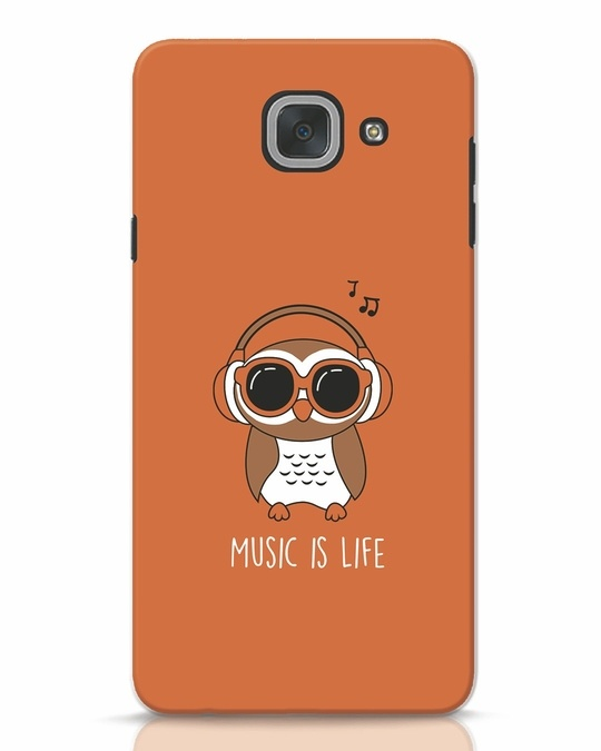 Shop Owl Headphones Samsung Galaxy J7 Max Mobile Cover-Front
