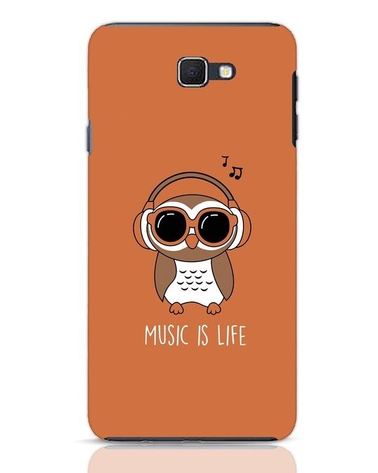 Shop Owl Headphones Samsung Galaxy J7 Prime Mobile Cover-Front