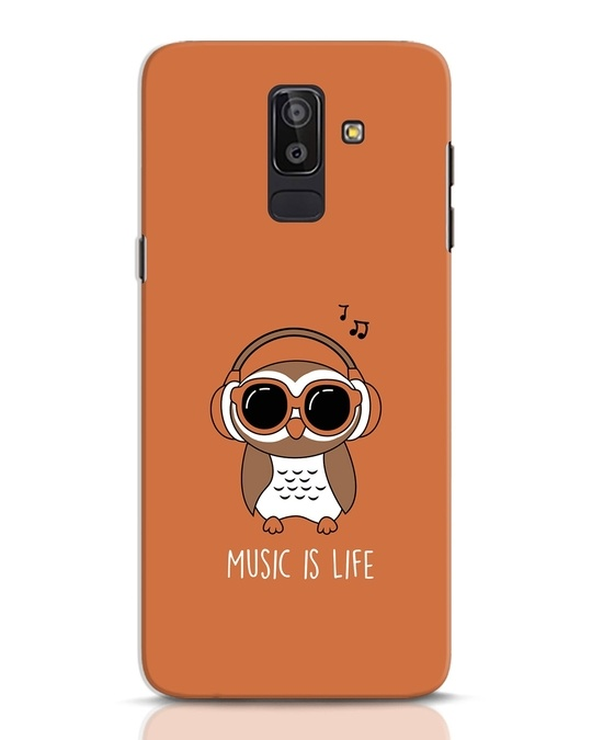 Shop Owl Headphones Samsung Galaxy J8 Mobile Cover-Front
