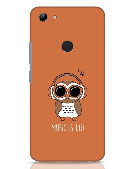 Shop Owl Headphones Vivo Y81 Mobile Cover-Front