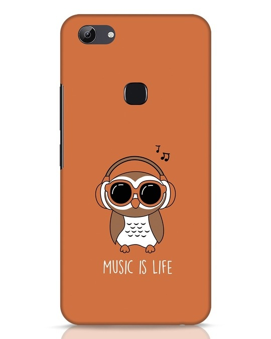 Shop Owl Headphones Vivo Y83 Mobile Cover-Front