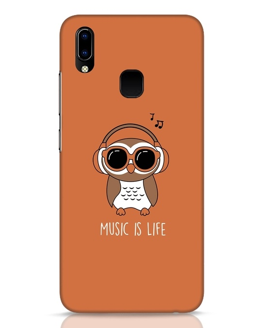 Shop Owl Headphones Vivo Y93 Mobile Cover-Front