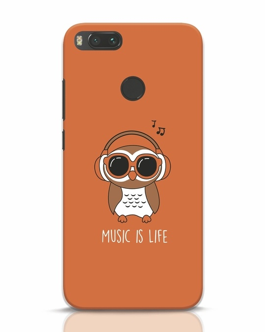 Shop Owl Headphones Xiaomi Mi A1 Mobile Cover-Front