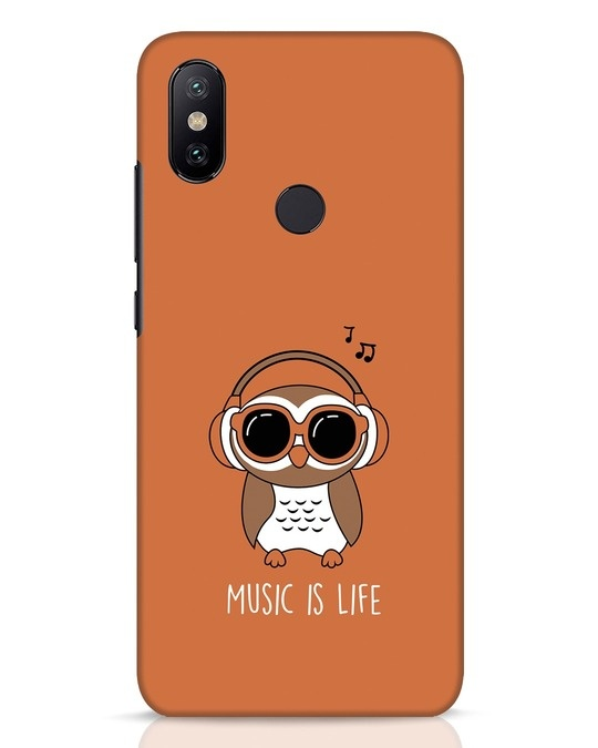 Shop Owl Headphones Xiaomi Mi A2 Mobile Cover-Front
