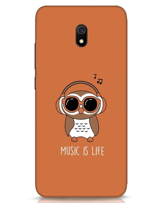 Shop Owl Headphones Xiaomi Redmi 8A Mobile Cover-Front