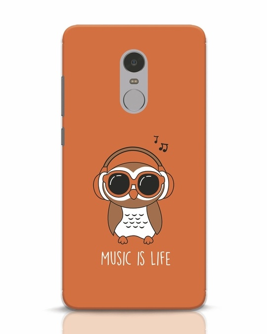Shop Owl Headphones Xiaomi Redmi Note 4 Mobile Cover-Front