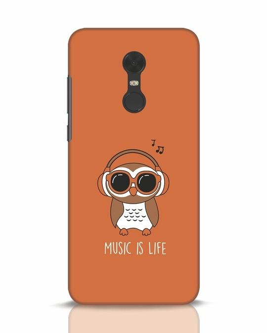 Shop Owl Headphones Xiaomi Redmi Note 5 Mobile Cover-Front