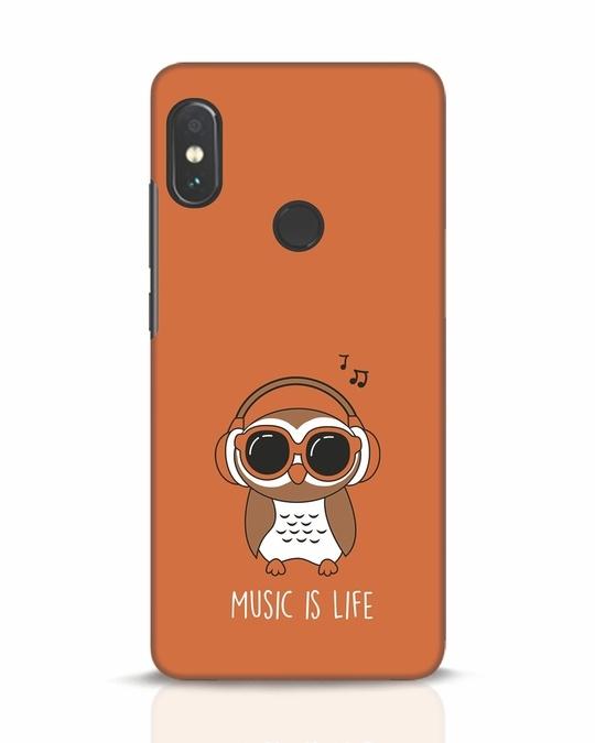 Shop Owl Headphones Xiaomi Redmi Note 5 Pro Mobile Cover-Front
