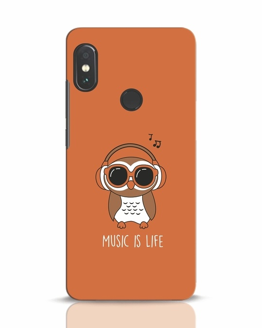 Shop Owl Headphones Xiaomi Redmi Note 5 Pro Mobile Cover-Front