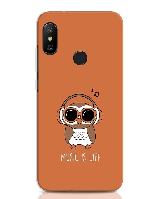 Shop Owl Headphones Xiaomi Redmi Note 6 Pro Mobile Cover-Front