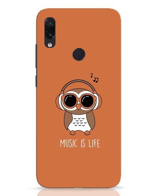 Shop Owl Headphones Xiaomi Redmi Note 7 Pro Mobile Cover-Front