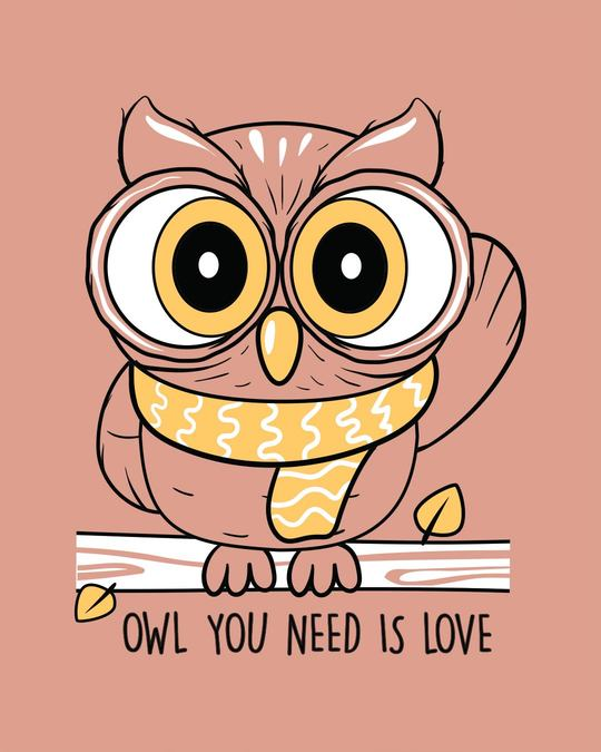 Shop Owl You Need Is Love Scoop Neck Full Sleeve T-Shirt