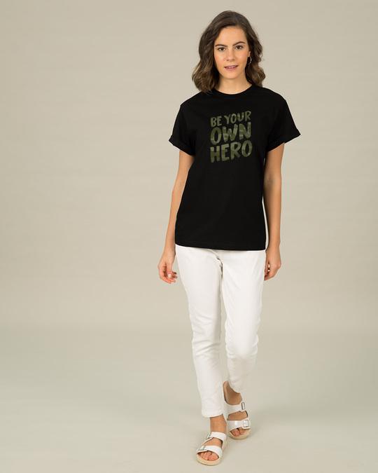 Shop Own Hero Camouflage Boyfriend T-Shirt-Full