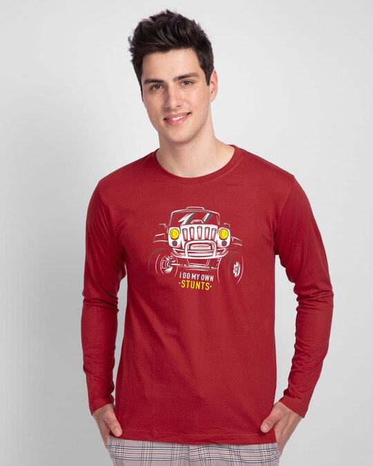 Shop Own Stunts Full Sleeve T-Shirt-Front