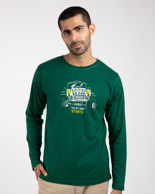 Shop Own Stunts Full Sleeve T-Shirt-Front