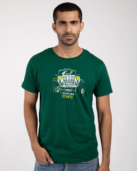 Shop Own Stunts Half Sleeve T-Shirt-Front