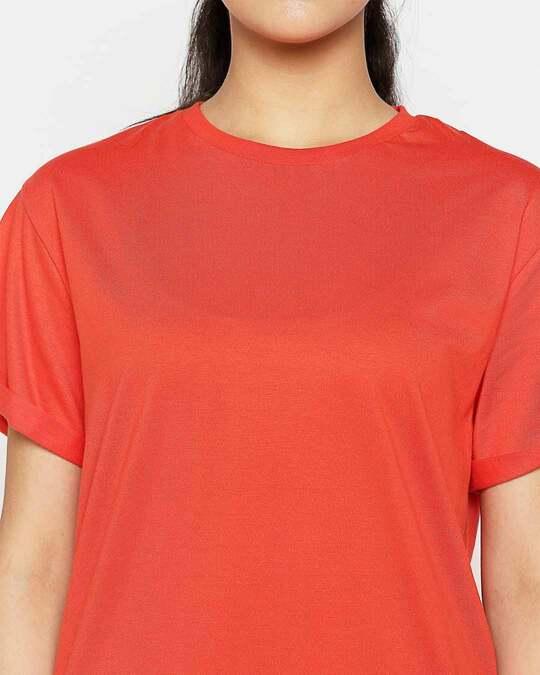Shop Smoke Red Boyfriend T-Shirt