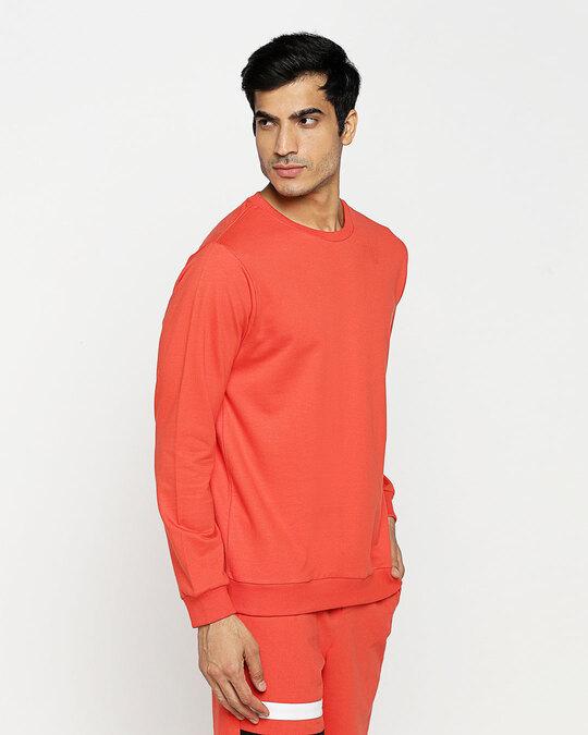 Shop Smoke Red Fleece Sweater-Design