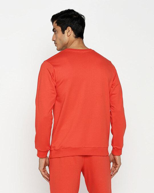 Shop Smoke Red Fleece Sweater-Full