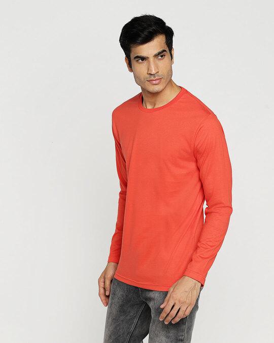 Shop Smoke Red Full Sleeve T-Shirt-Design