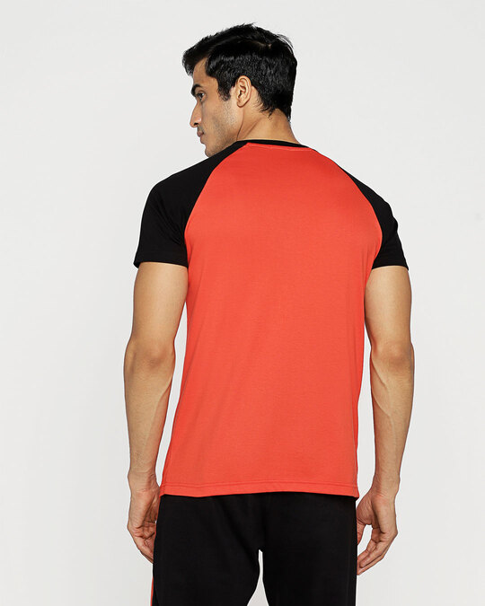 Shop Smoke Red Half Sleeve Raglan T-Shirt-Full