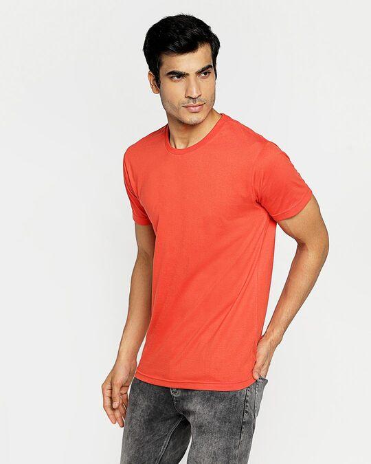 Shop Smoke Red Half Sleeve T-Shirt-Back