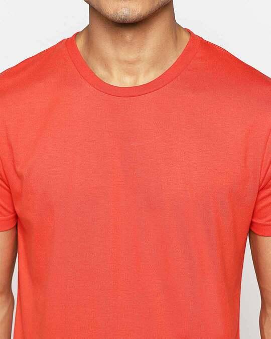Shop Smoke Red Half Sleeve T-Shirt