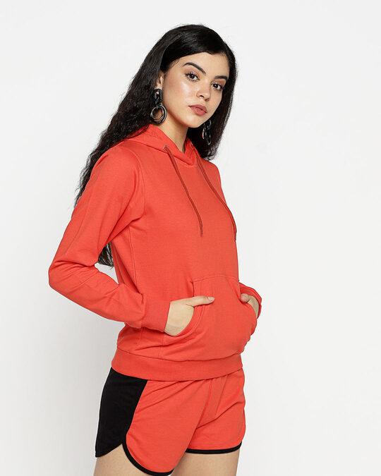 Shop Smoke Red Hoodie Sweatshirt-Design